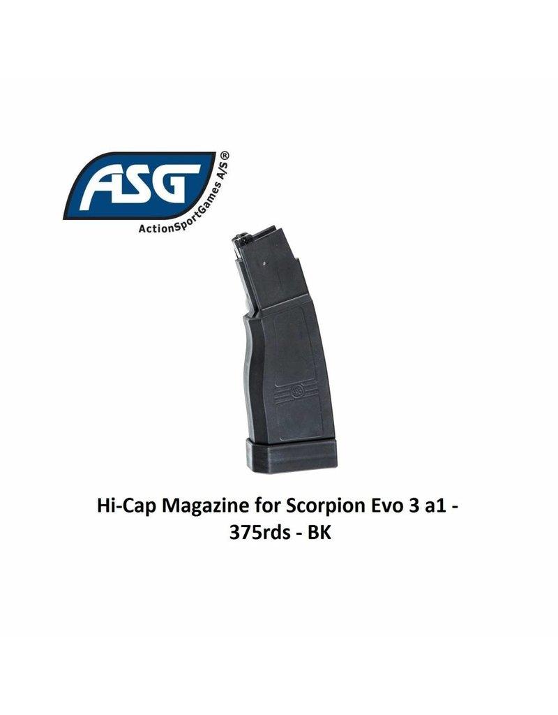 ASG Hi-Cap Magazine for Scorpion Evo 3 a1 - 375rds - BK