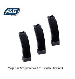 ASG Magazine Scorpion Evo 3 a1 - 75rds - Box of 3
