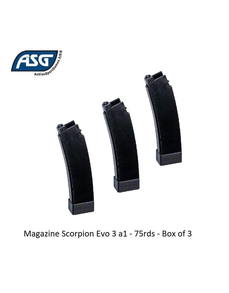 ASG Magazine Scorpion Evo 3 a1 - 75rds - Box of 3