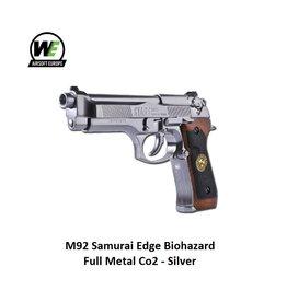 WE M92 Samurai Edge Biohazard Full Metal Co2 - Silver