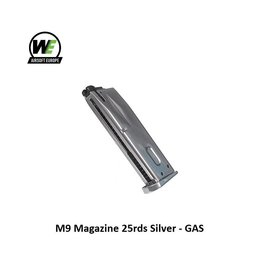 WE M9 Magazine 25rds Silver - GAS