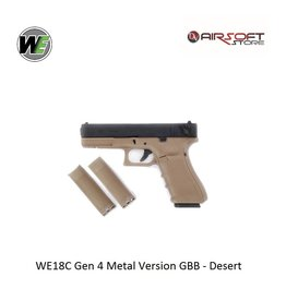 WE WE18C Gen 4 Metal Version GBB - Desert