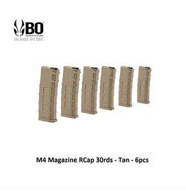 BO M4 Magazine RCap 30rds - Tan - 6pcs