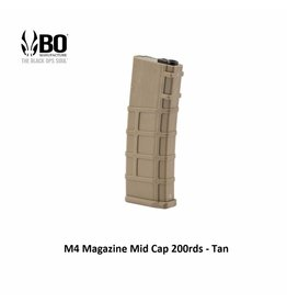 BO M4 Magazine Mid-Cap 200rds - Tan