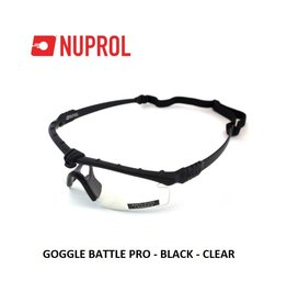 NUPROL GOGGLE BATTLE PRO - BLACK - CLEAR