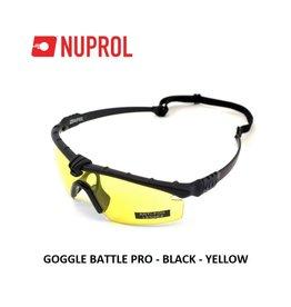 NUPROL GOGGLE BATTLE PRO - BLACK - YELLOW