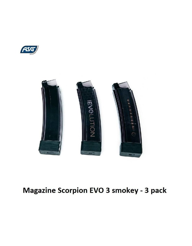 ASG Magazine Scorpion EVO 3 smokey - 3 pack