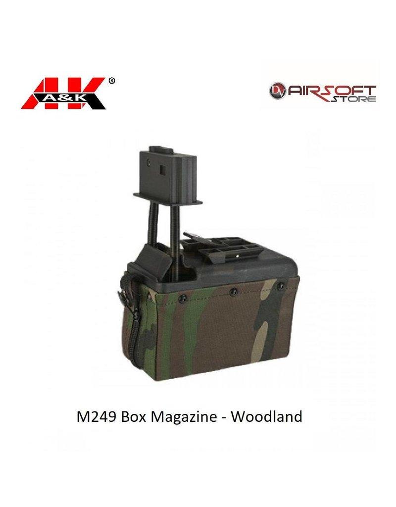 A&K M249 Box Magazine - Woodland