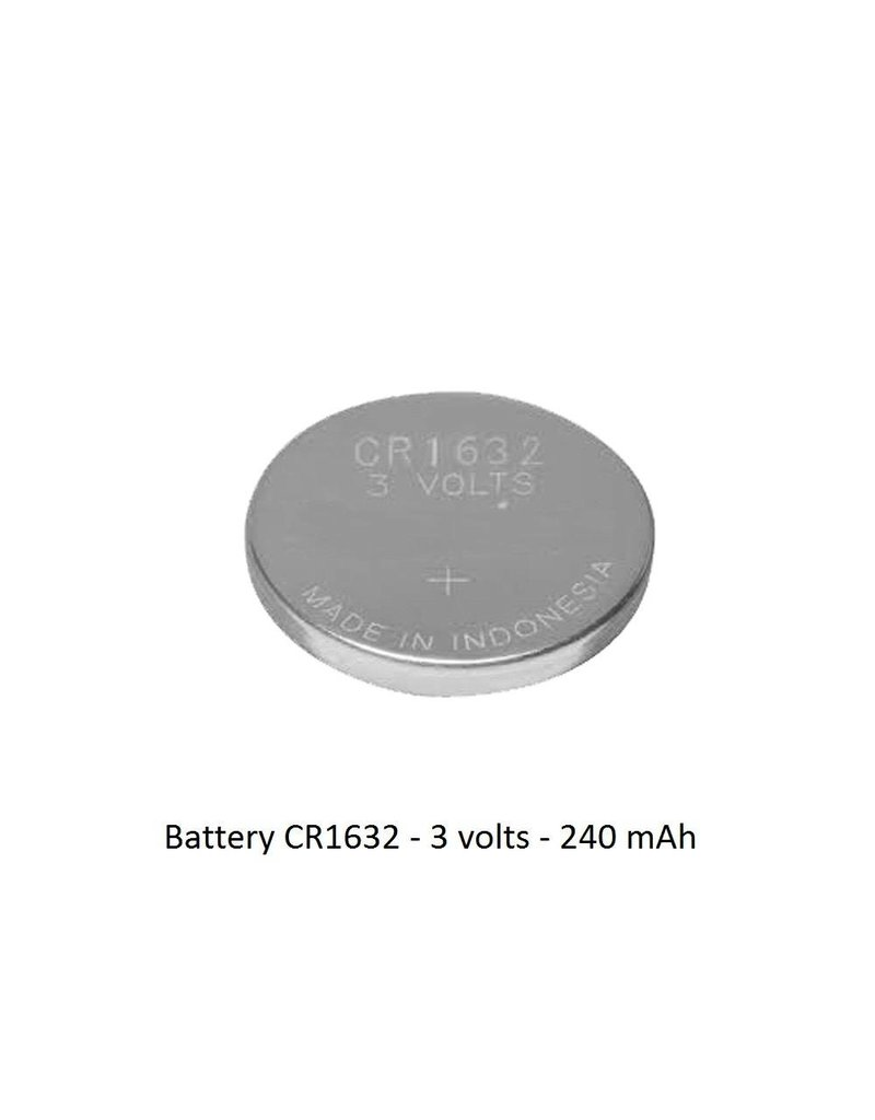 Battery CR1632 - 3 volts - 240 mAh