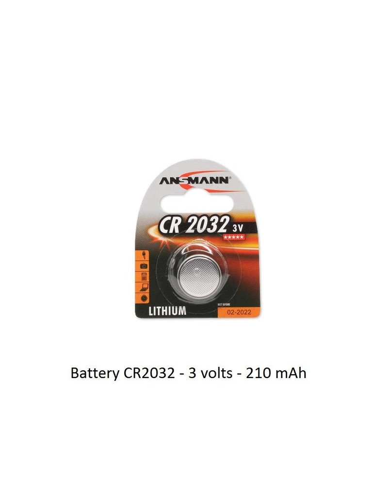 Battery CR2032 - 3 volts - 210 mAh