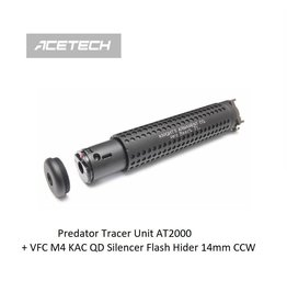 ACETECH Predator Tracer Unit AT2000 + VFC M4 KAC QD Silencer Flash Hider 14mm CCW