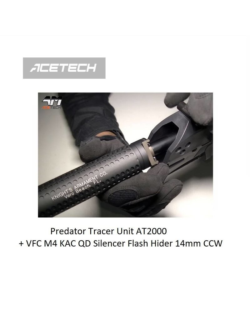 ACETECH Predator Tracer Unit AT2000 + VFC M4 KAC QD Silencer Flash Hider 14mm CCW