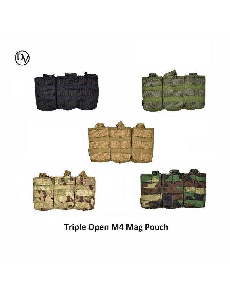 Delta Victor Triple Open M4 Mag Pouch