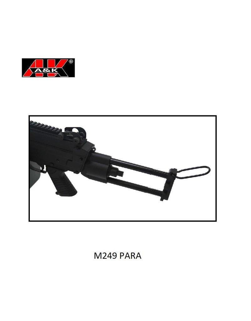 A&K M249 Para Full Metal
