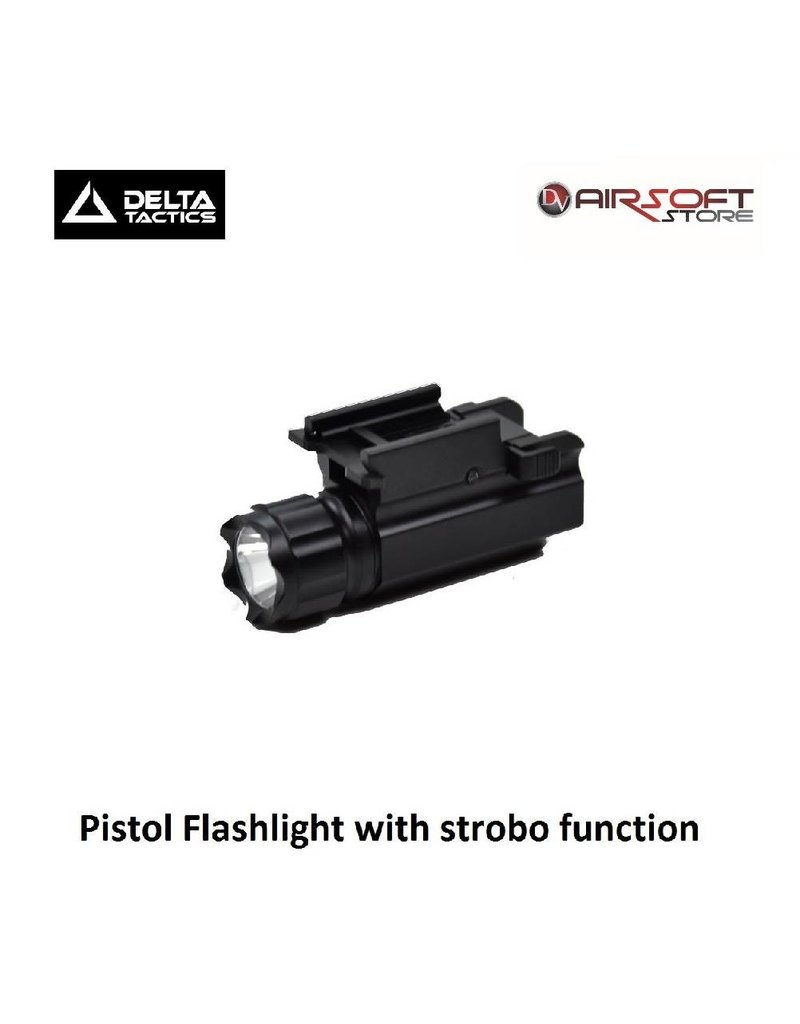 Delta Tactics Pistol Flashlight with strobo function