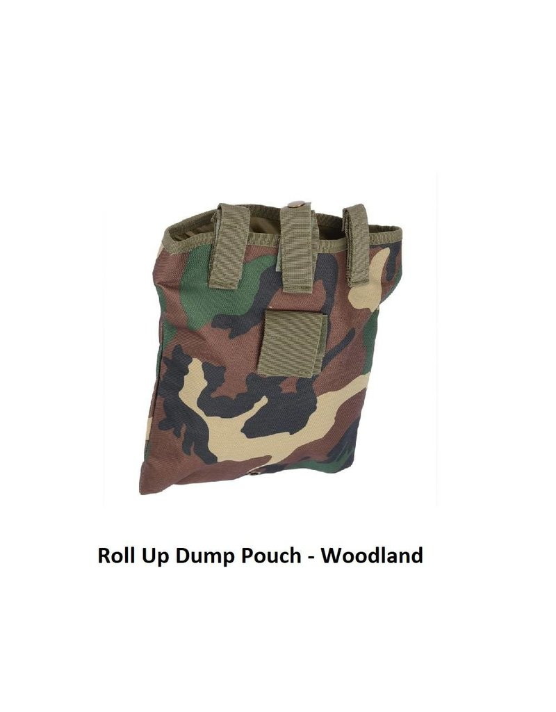 - Roll Up Dump Pouch - Woodland
