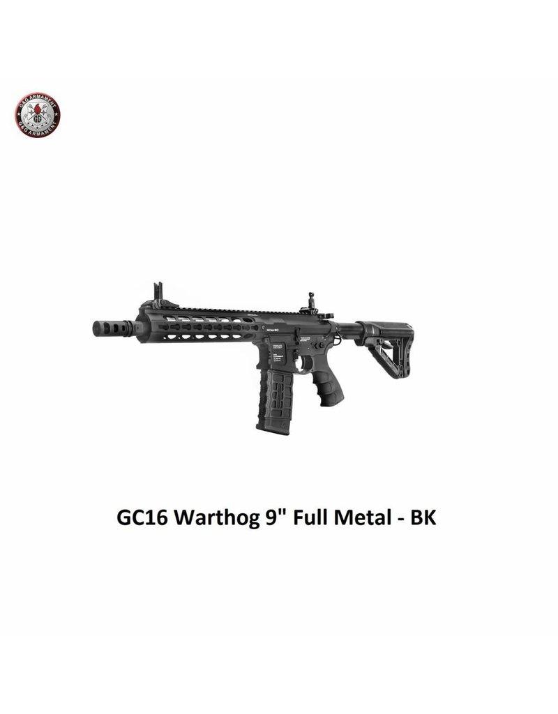"""G&G GC16 Warthog 9"""" Full Metal - BK"""