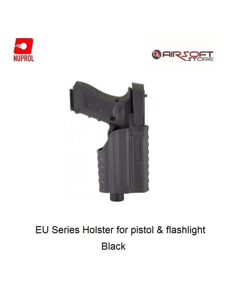 NUPROL Glock Series Holster for pistol with flashlight - BK