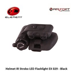 Element Helmet IR Strobo LED Flashlight EX 029 - Black