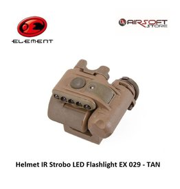 Element Helmet IR Strobo LED Flashlight EX 029 - TAN