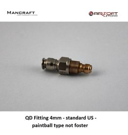 Mancraft QD Fitting 4mm - standard US - paintball type not foster