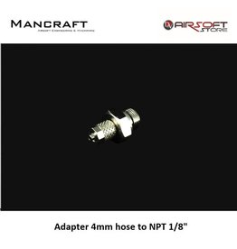 Mancraft Adapter 4mm hose to NPT 1/8""