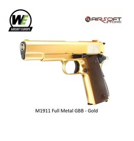 WE M1911 Full Metal GBB - Gold
