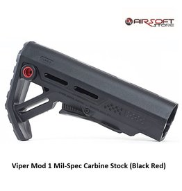 Strike Industries Viper Mod 1 Mil-Spec Carbine Stock (Black Red)