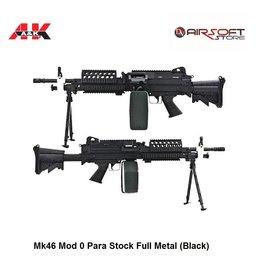 A&K Mk46 Mod 0 Para Stock Full Metal (Black)