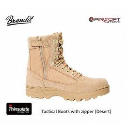 Brandit Tactical Boots with zipper (Desert)