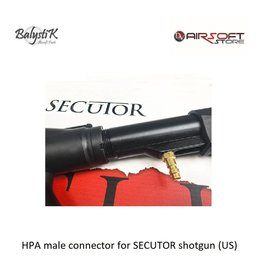 Balystik HPA male connector for SECUTOR shotgun (US)
