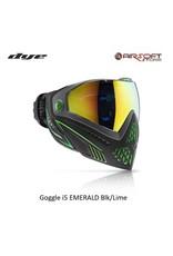 DYE PRECISION Goggle i5 EMERALD Blk/Lime
