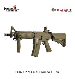 Lancer Tactical LT-02 G2 M4 CQBR combo 1J Tan