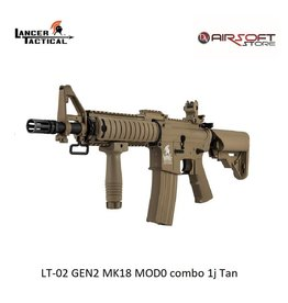 Lancer Tactical LT-02 GEN2 MK18 MOD0 combo 1j Tan