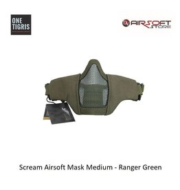 One Tigris Scream Airsoft Mask Medium - Ranger Green