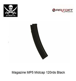 PIRATE ARMS Magazine MP5 Midcap 120rds Black