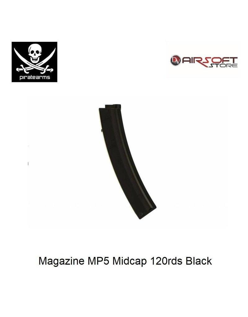 PIRATE ARMS Magazine MP5 Midcap 120rds Black