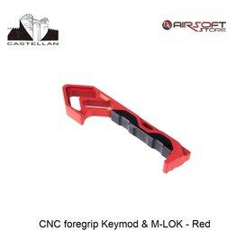 Castellan CNC foregrip Keymod & M-LOK - Red