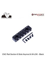 Castellan CNC Rail Section 6 Slots Keymod & M-LOK - Black