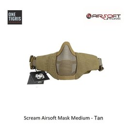 One Tigris Scream Airsoft Mask Medium - Tan