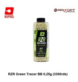 NUPROL RZR Green Tracer BB 0,25g (3300rds)