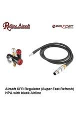 Redline Airsoft SFR Regulator (Super Fast Refresh) HPA with black Airline