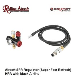 Redline Airsoft SFR Regulator (Super Fast Refresh) HPA with black Airline