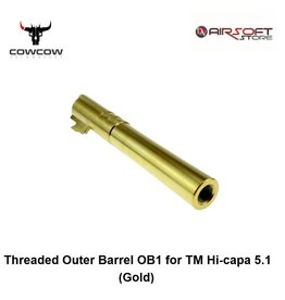 CowCow Threaded Outer Barrel OB1 for TM Hi-capa 5.1 (Gold)