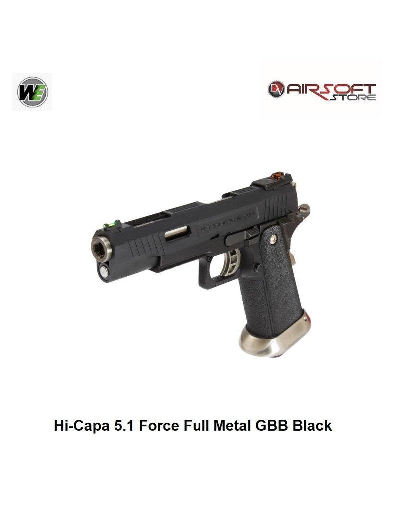 WE Hi-Capa 5.1 G-Force TREX GBB - Black