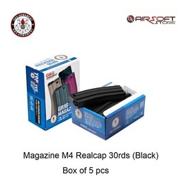 G&G Magazine M4 Realcap 30rds (Black) - box of 5