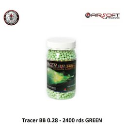 G&G Tracer BB 0.28 - 2400 rds GREEN