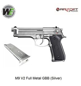 WE M9 V2 Full Metal GBB (Silver)