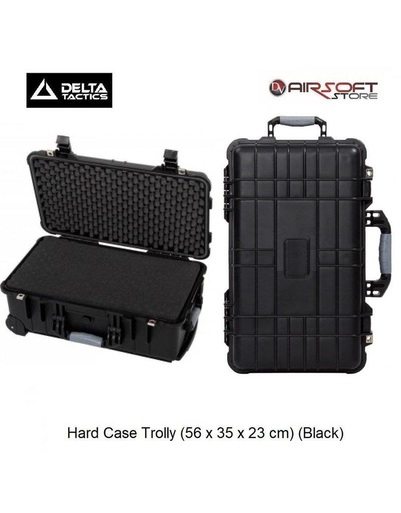 Delta Tactics Hard Case Trolly (56 x 35 x 23 cm) (Black)