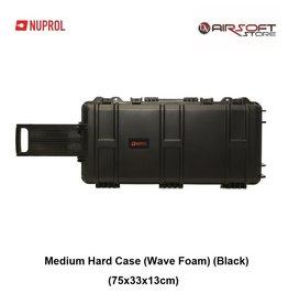 NUPROL Medium Hard Case (Wave Foam) (Black)